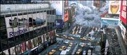 The flooding of New York City replica