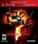 Resident Evil 5 Greatest Hits PlayStation 3 NTSC Box Art FRONT BBFC