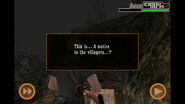 Resident Evil 4 iOS - Notice to the villagers