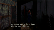 Resident Evil CODE Veronica - square in front of the guillotine - examines 07-3