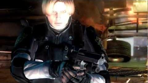 Leon runs away (cutscene)