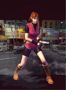 Claire Redfield with Browning HP