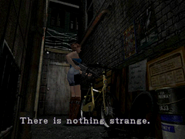 Resident Evil 3 Nemesis screenshot - Uptown - Warehouse back alley examine 03