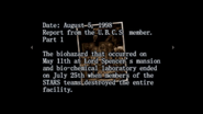 Survivor file - Report on destroyed Raccoon City - page 2