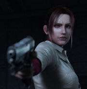 Resident Evil Degeneration screenshot - Claire Redfield with handgun