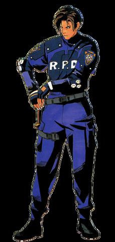 File:Resident Evil 2 - Leon Scott Kennedy standard alpha.png