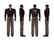 Resident Evil - Chris Redfield costume 1 model - Copy