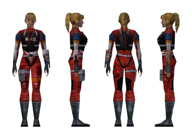 File:Resident Evil 2 - Elza Walker RPD armor model (damage 2).png