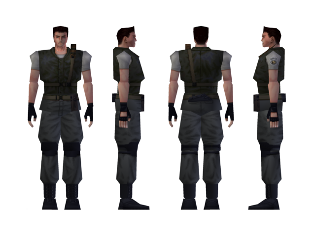 File:Resident Evil - Chris Redfield standard model.png
