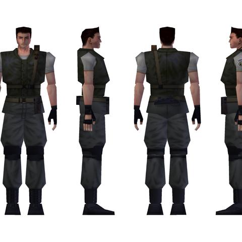 Chris' standard S.T.A.R.S. uniform model.