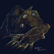 Resident Evil Tyrant fan art by Furgur