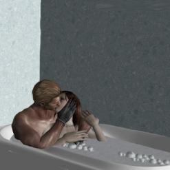 Wesker & Eve kiss