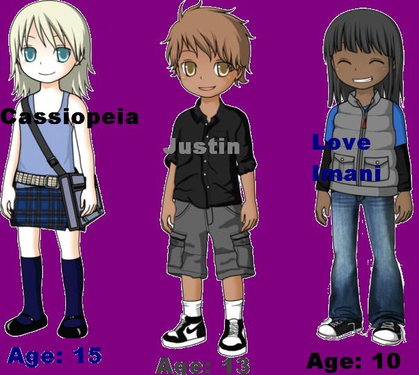 The Umbrella Kids Cast by SimGoddess1