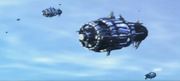 Chimeran Fleet Cylindrical Ships