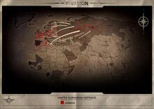 UED invasion map