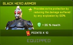 Black Hero Armor