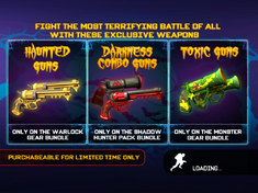 Halloween weapons load page