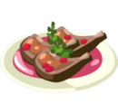 Lamb with Pomegranate Sauce