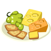 Moon Cheese and Crackers