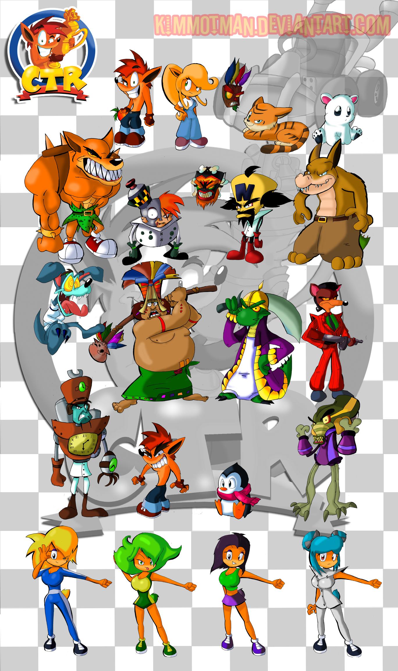 Image - Crash Team Racing Characters by KimmotMan.jpg ...