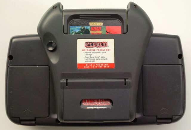 File:Game Genie Sega Game Gear rear attached with Road Rash.jpg