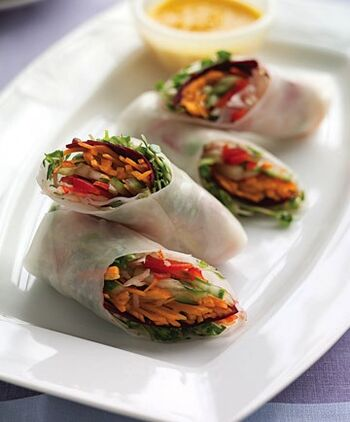 Saladpaperrolls