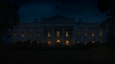 The White House at night time.