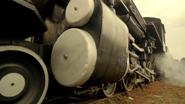 Trains moving