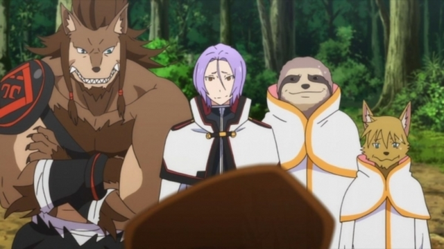 File:Julius, Ricardo, and members of The Fang of Iron - Re Zero Anime.png