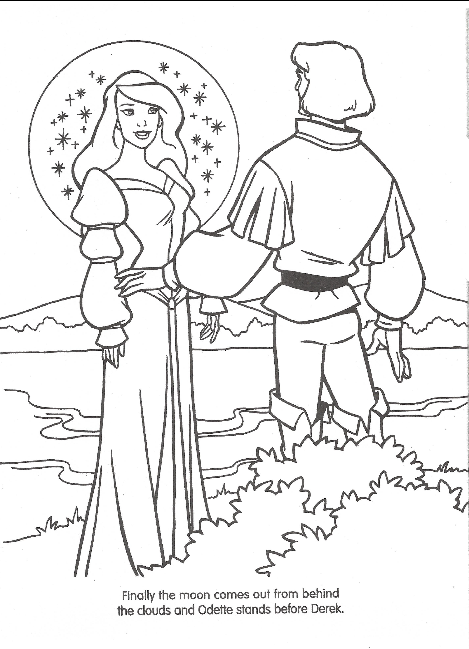 image swan princess official coloring page 35 png richard rich