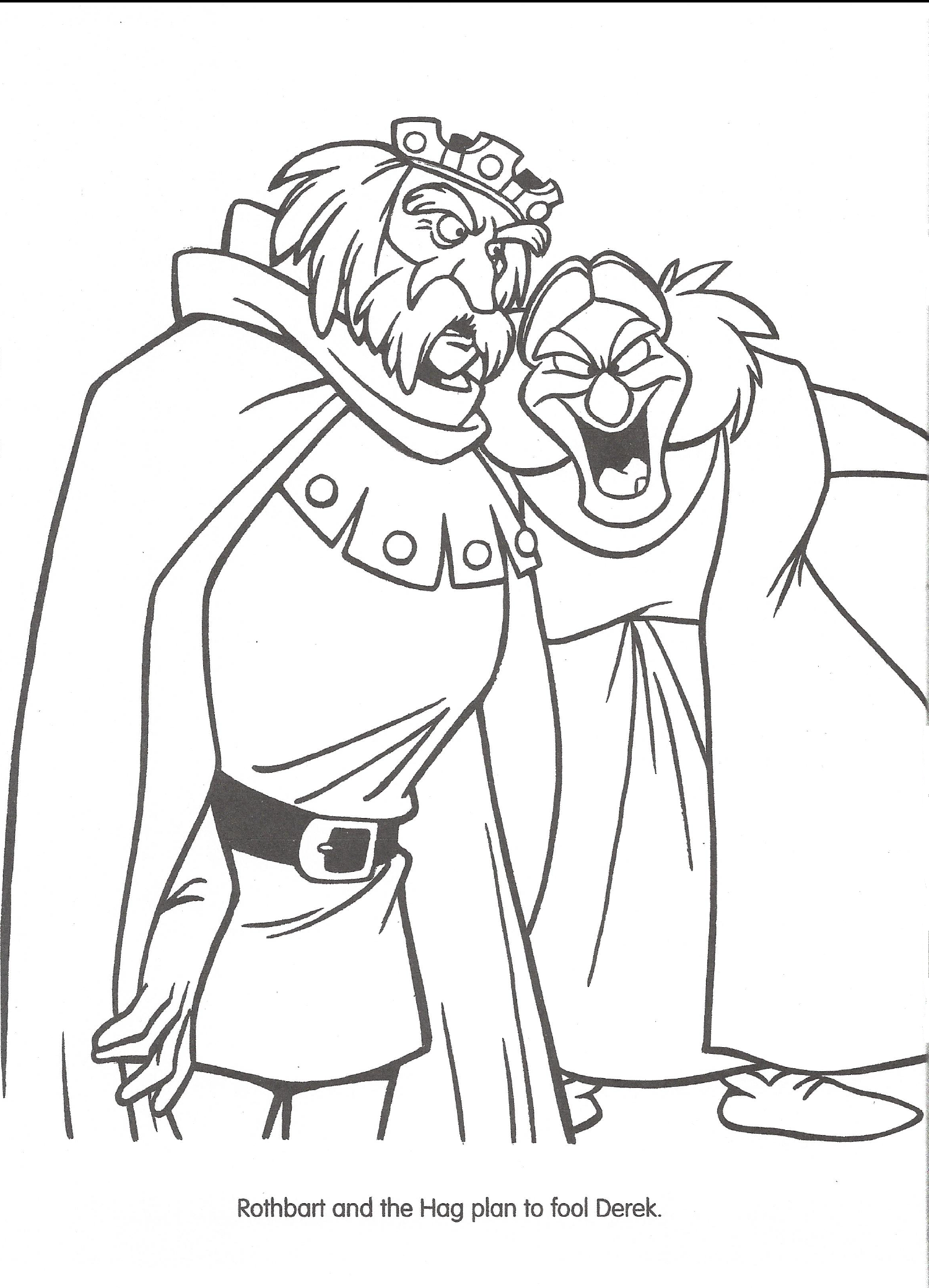 swan princess coloring pages free - photo#18