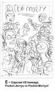 PLYSI Marc Ellerby issue 3 cover progress sketch