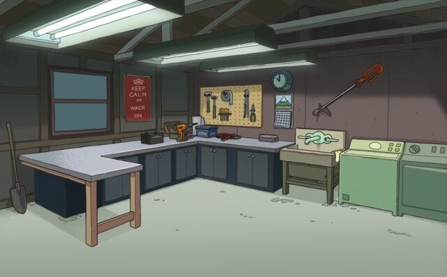 File:Morty's garage is looking a little... Rickless.jpg