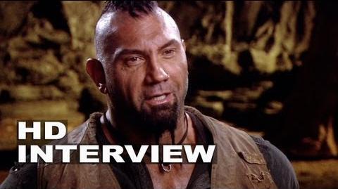 "Riddick Dave Bautista ""Diaz"" On Set Interview"
