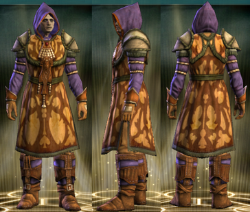 Yellow Robe Set Male