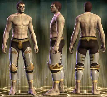 Gold Plate Legs Male