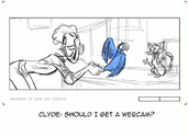 Clyde storyboard