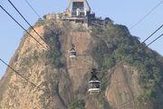 Cable Cars from Sugarloaf Mountain-Pao de Acucar - Rio de Janeiro - Brazil