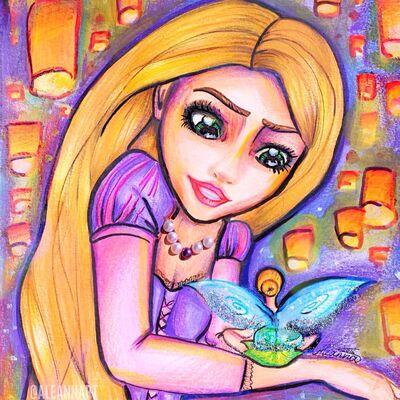 Rapunzel tinkerbell by aleannart-dabb695