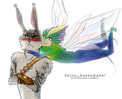 Hello bunnymund by teschazilla-d5beoi4
