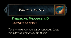 LI Parrot's Wing Stats
