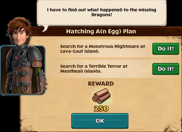 Hatching A(n Egg) Plan