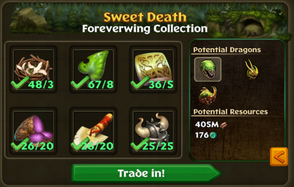 Foreverwing Potential Collections
