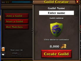 Creating guild