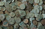 Frome Hoard pile of coins