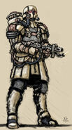 Flame trooper by mercenary artist