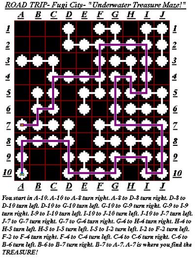 Treasure Hunting Maze Map