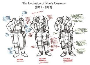 Evolution of Max's Costume