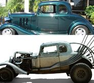 Chevrolet 5 window coupe 1934 the nux car the mad max for 1934 chevrolet 5 window coupe