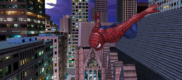 File:Agent Omega X In His Human Form As Spider-Man Jumping From Rooftop To Rooftop In Penguin City.jpg